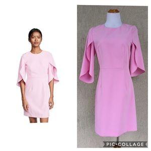 Milly - pink flutter sleeve dress